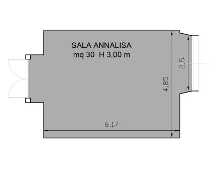 Annalisa-meeting room floor plan Hotel Universo Rome