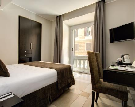 Standard rooms of the best Western Hotel Universo Rome